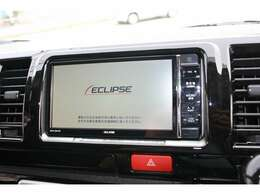 イクリプス製7インチSDナビを搭載しています☆地デジTV、CD・DVD再生・音楽録音・Bluetooth機能付き☆高画質・高音質で快適なドライブがお楽しみ頂けます☆走行中もテレビ映ります☆