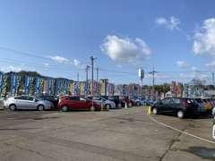 常時80台以上の展示車がお客様をお出迎え!納得の行くまでお車選びのお手伝いをさせて頂きます!