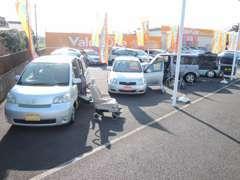 福祉車両も常時展示中!お客様に適した車両をアドバイスいたします。