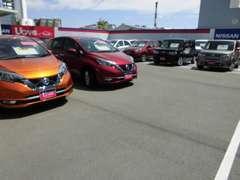 『当社新車店の下取りワンオーナー車』や『当社新車店元展示試乗車』などおススメの車両を展示しております。
