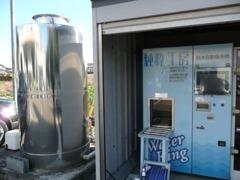 洗車など当社で使用している水は、不純物を含まない「純水」を使用しています。ボディなどを痛めないこだわりです。