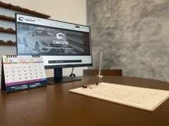 商談時には各テーブルに配置されたモニターを使い、より分かりやすくご案内させていただきます!