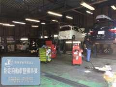 納車前に陸運局指定工場にて12ヶ月点検または24ヶ月点検を行います!ご納車後のアフターや車検もご安心ください!