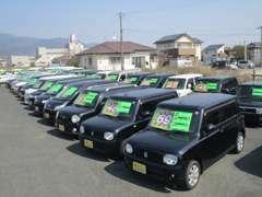 軽自動車のお買い得車を多数展示しております。