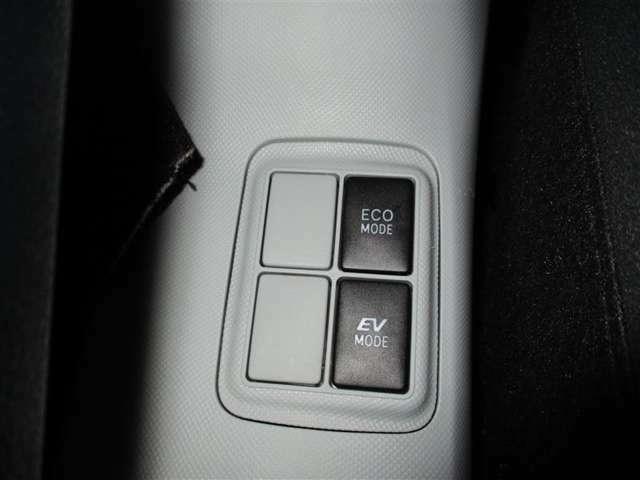 エンジンの出力を抑えるエコモードとモーターのみで走れるようにするスイッチです!