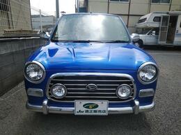 ミラジーノの鮮やかブルー低走行車です(^^)/