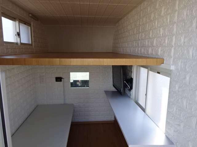 ロフトベッド 使用しないときはロフト部に収納できます。