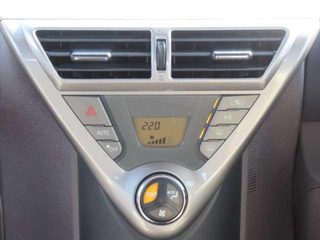 オートエアコン装備です◇温度や風量など自動調整してくれる嬉しい機能です◇一定の温度にセットするだけで自動的に車内を設定温度に保ってくれるので快適です◇