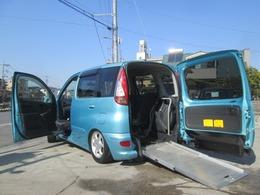 トヨタ ファンカーゴ 1.3Xウェルキャブ福祉車両 ニールダウン スローパー 助手席回転シート