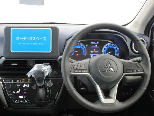 オーディオは装着されていません。三菱自動車純正アクセサリーカタログよりお選びいただけます。お気軽にお問い合わせくださいませ。