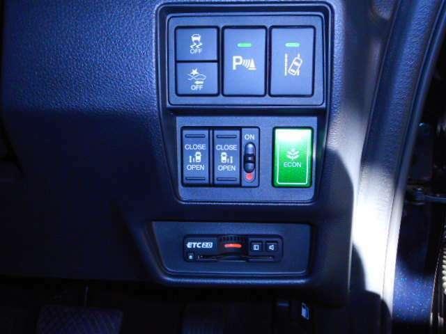 VSA、誤発進抑制機能、コーナーセンサー、路外逸脱抑制機能、両側パワースライドドア、ECON、ETC2.0車載器