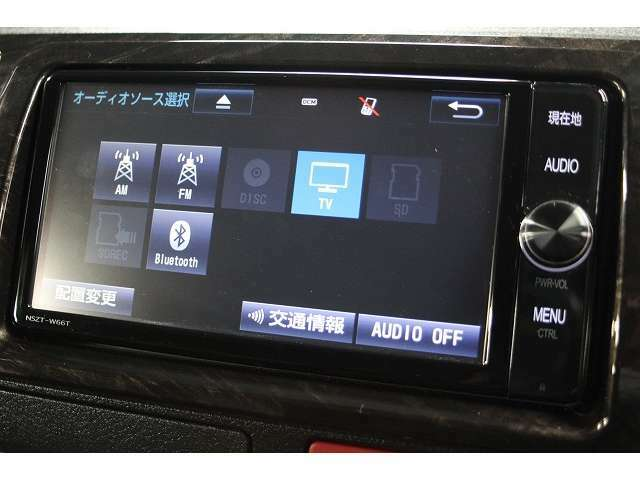 オーディオメニュー画面です。Bluetoothも接続可能です!