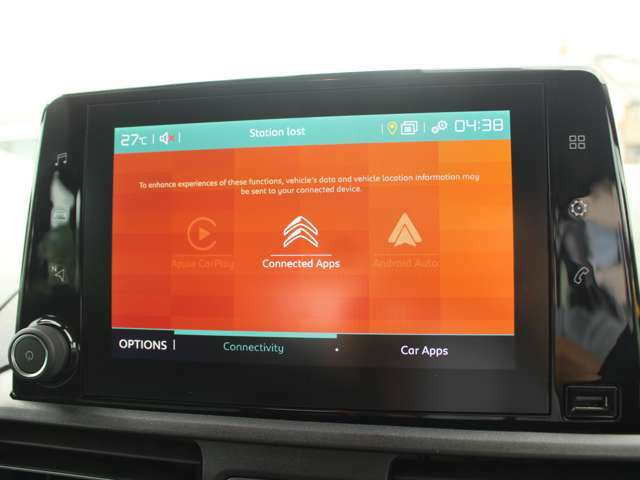 APPLE CAR PLAY/ANDROID AUTO対応です。地図アプリ以外にも音楽アプリやポッドキャストもご利用頂けます。