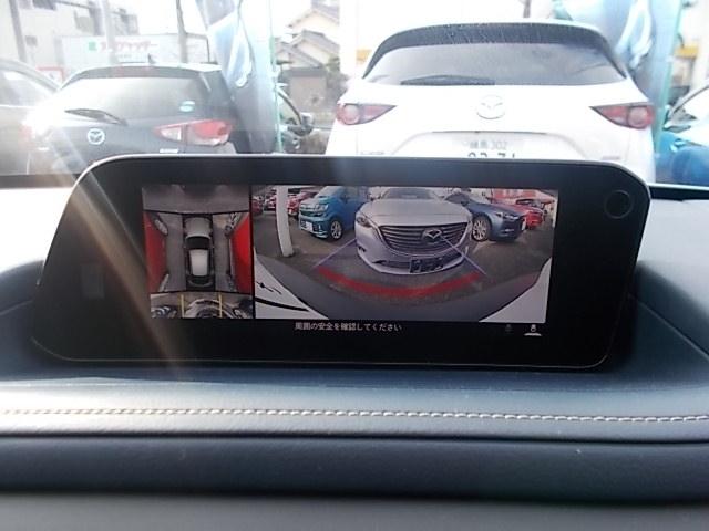 車両の前後左右に備えた計4つのカメラを活用し、車両を上方から俯瞰したようなトップビューのほかフロントビュー・リアビュー・左右サイドビューの映像をセンターディスプレイに表示する360°ビューモニター。