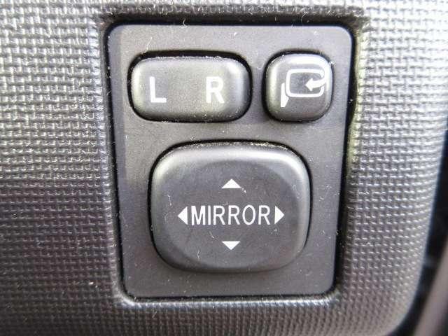電動格納ミラースイッチ! ドアミラーの格納、角度調整は電動が便利ですよね