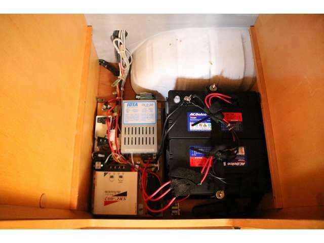 ツインサブバッテリー・走行充電・外部充電。