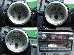 3連追加メーター(水温、油温、油圧)社外オーディオ装備