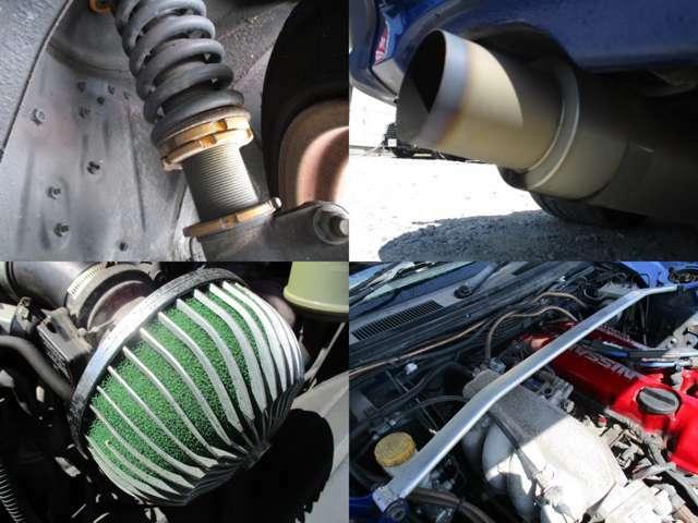 車高調 社外マフラー エアクリ タワーバー装備