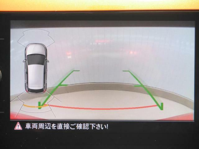 バックカメラはもちろん、駐車時の障害物を感知して警告音で知らせてくれるので安心です。