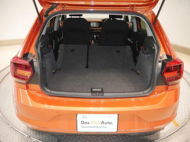 リヤシートをフラットにすると広いスペースが確保されます!