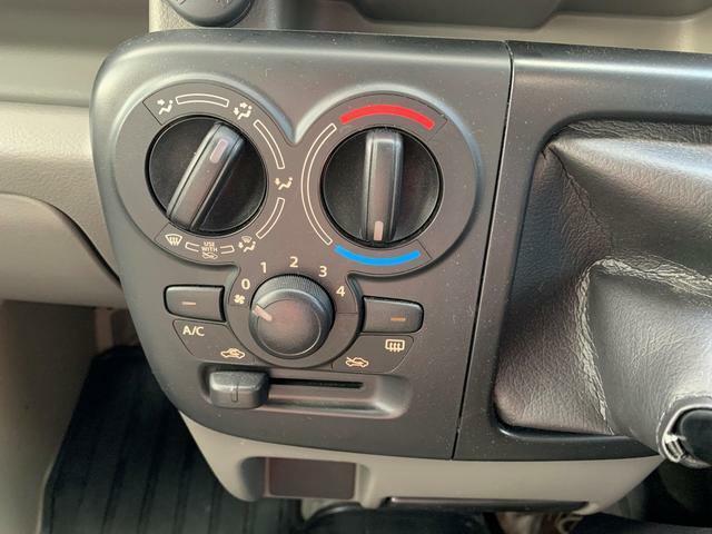 操作性の良いマニュアルエアコン!