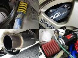 車高調 6ポットキャリパー 社外マフラー エアクリ装備