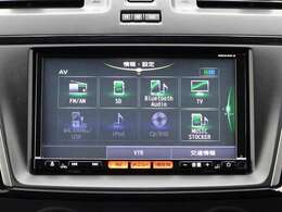 オーディオ一体型純正ナビです。 ラジオ、CD・DVD再生・フルセグTV、Bluetoothオーディオ接続が利用可能です。
