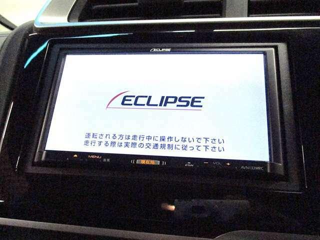 社外SDナビ【ECLIPSE:AVN133MRC】搭載!!☆ワンセグTV視聴☆CD再生☆AM・FMラジオなどの機能が内蔵されております♪