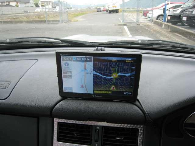 ユピテルポータブルナビ付です!知らない土地でも安心して運転することができます!快適なドライブをお楽しみいただけます!