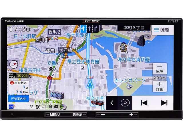 ☆イクリプスAVN-R7☆記録メディアタイプ:SSD タイプ:一体型(2DIN) 画面サイズ:7型 TVチューナー:地デジフルセグBluetooth搭載・DVD/CDメーカHP→http://www.fujitsu-ten.co.jp/eclipse/product/navi/avn-sdr7/