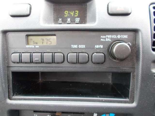 ラジオ付き!別途料金になりますがポータブルナビ等も販売しております!