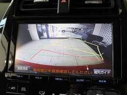 後方確認に便利なバックカメラ搭載!鮮明な映像でナビに映しだされるので安心安全ですね☆