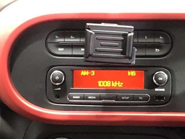 ラジオオーディオ搭載。チャンネルや音量も操作が簡単です