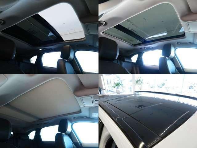 【スライディングパノラミックルーフ メーカーオプション参考価格236,000円】解放感たっぷりのパノラミックルーフは中心に遮るバーがなく、後席からの解放感もよく、車内に明るい光を注ぎ込みます。