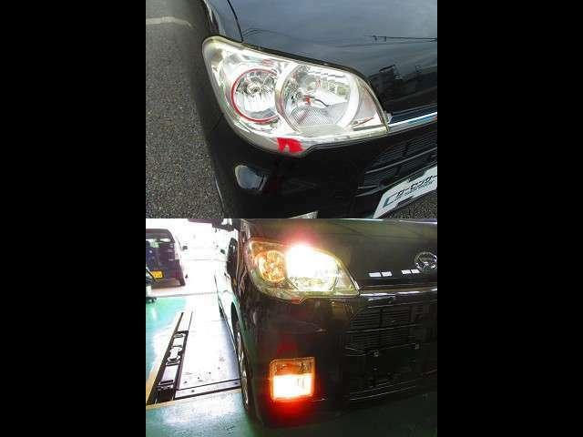 HIDライトが夜道を明るく照らします。夜の交通安全・事故防止に貢献します。