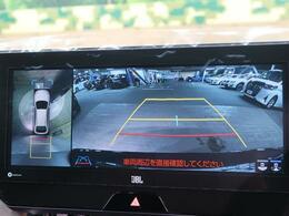 パノラミックビューモニターを搭載☆前後左右に取り付けられた、4つのカメラから取り込んだ映像を継ぎ目なく合成。上から車両を見下ろしたような映像を表示します!
