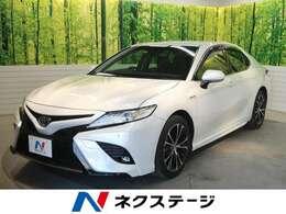 トヨタ カムリ 2.5 WS レザーパッケージ 禁煙車 BSM セーフティセンス 黒革シート