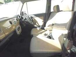 前席もベンチシートなので、左右どちらかに寄せて駐車しなければいけない状況でも、左右どちらからでも乗り降りできるので、地味に便利です。