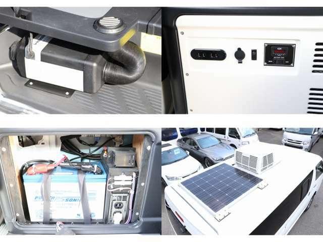 マルチロールトランスポーター純正オプション装備、サブバッテリー 走行充電 インバーター 電圧計