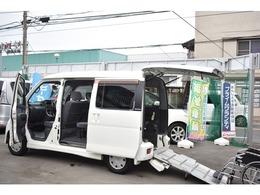 ダイハツ アトレーワゴン 福祉車両スロープ 折り畳み補助シート付 両側スライドドア 電動車いす固定装置