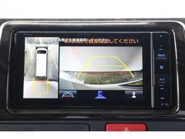 新型より追加されたPVM(360度カメラ)機能で駐車時も安心!