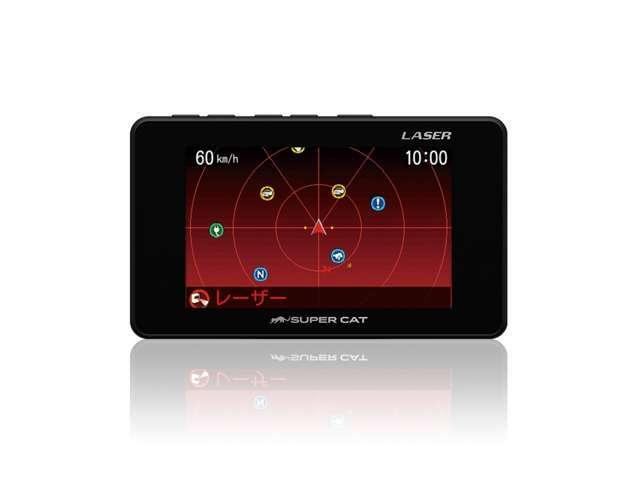 Bプラン画像:SUPER CAT レーザー&レーダー探知機LS100■レーザー光の受信警報が可能なため、取締りの度に設置場所が移動される「レーザー式移動オービス」も対応できます。