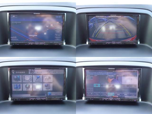 DVDやフルセグTVも見れるメモリナビ付き♪バックカメラ・サイドカメラも付いていますので駐車が苦手な方でも安心です!