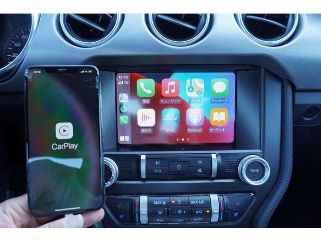 最新機能の、アップルカープレイが装備されておりますので、お使いのスマートフォンをおつなぎいただければ、ナビ機能などお使いいただけます!