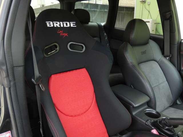 綺麗なBRIDEシート装着!切れやほつれない状態ですので気持ち良くお乗りになれます。