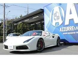 2018y フェラーリ 488スパイダー 正規ディーラー車 鍛造ホイール20インチ LEDカーボンステアリング レッドインテリア ナビ スマートキー 入庫しました!