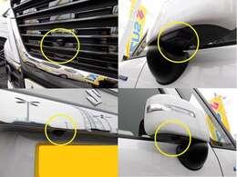 フロントグリル、ドアミラー、バックドアにカメラが付いています☆駐車の時にナビ画面で自車位置を確認出来て、あれ?車はどの位置?障害物はないかな?など確認ができて安心(ナビはスタッフがご提案させて頂きます