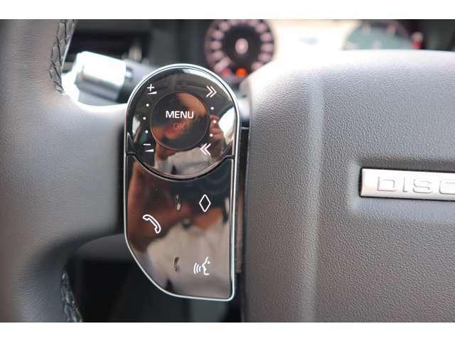 ステリングコラムスイッチも液晶を採用。