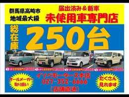 当店は年間販売台数が約1000台です。ほとんどが届出済み未使用車になります。軽自動車専門ですから、お任せ下さい。群馬県以外の方も大歓迎♪全国への販売・納車も得意ですよ。