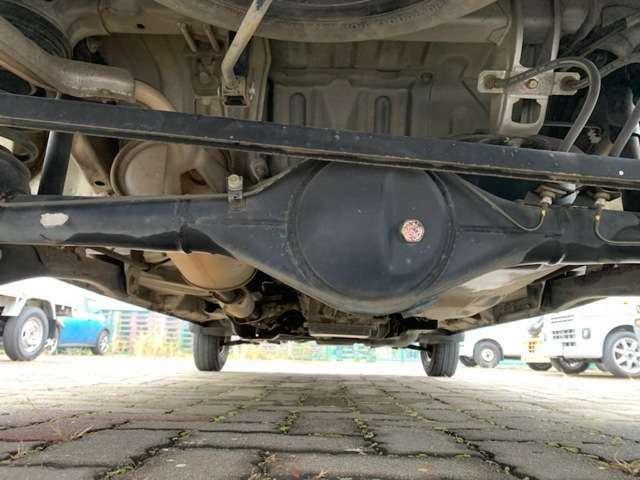 デフオイルも漏れはありませんね!スペアタイヤが付いています!